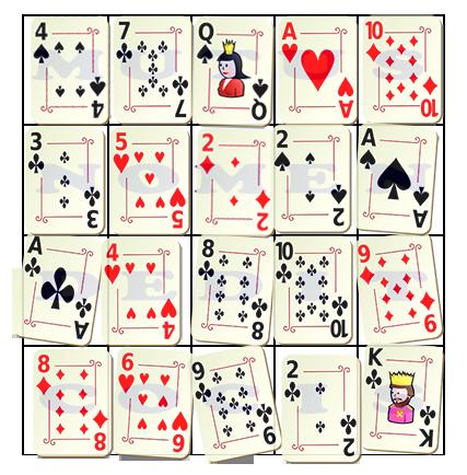 tour de magie carte 4 mots